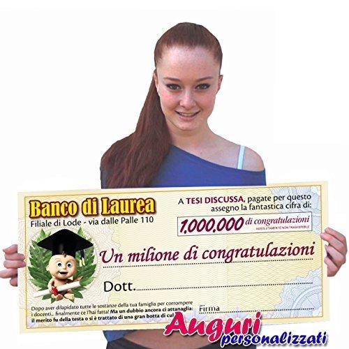 spesso Biglietto di auguri per laurea a forma di assegno. - TopRegalo.it GK59
