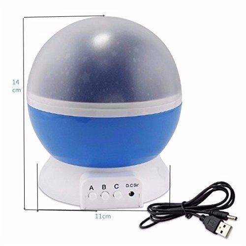 SOLMORE - Lampada a led a rotazione per cielo stellato, ideale per gli interni di casa ...