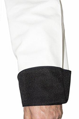 Giacca Cuoco Bicolore Ricamata con Nome Personalizzabile online Modello  Royal Chef Bianco Nero Isacco 96b5c8a313df
