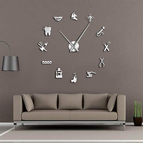 Orologio da parete grande per dentista for Idee per orologio da parete